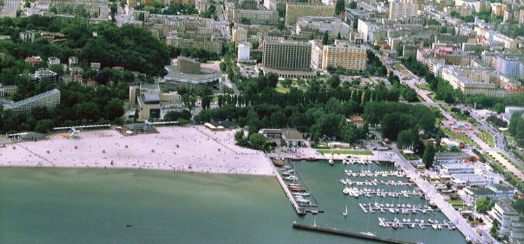 widok na miasto Gdynia